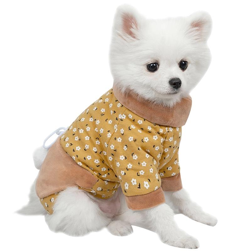 Одежда для собак маленьких кошек осенне зимнее пальто куртка
