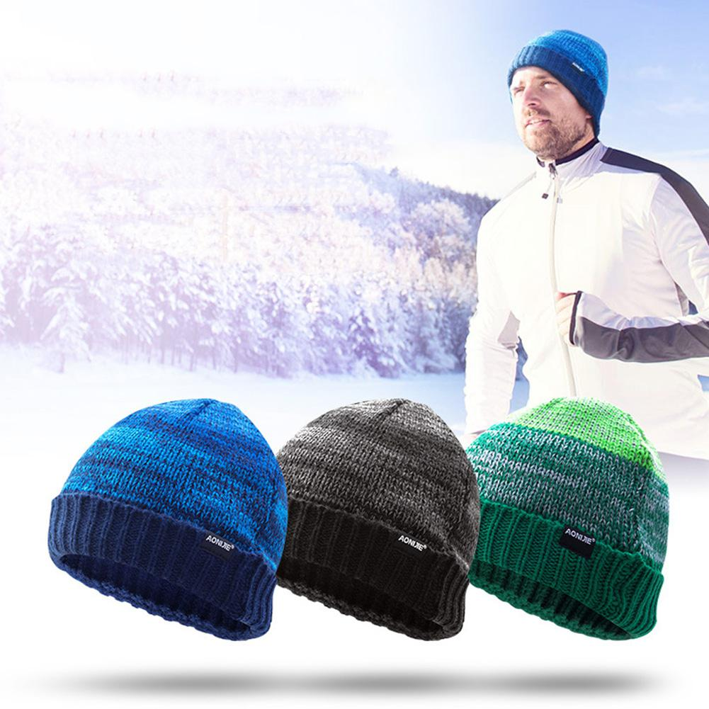 MeterMall Men/Women Outdoor Cycling Woolen Cap Fashionable Sports Warm Knitted Cap Beanie