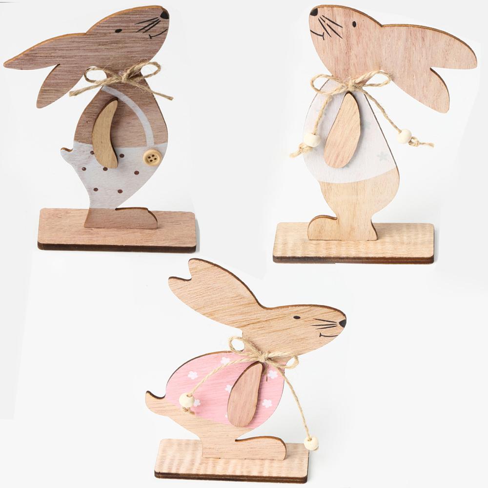 Пасхальный кролик, деревянные украшения, пасхальный декор для дома, пасхальные яйца, вечерние украшения, кулоны, Пасхальный кролик, Декор, п...