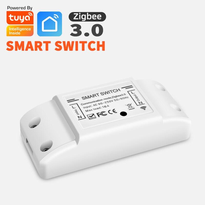 Tuya Zigbee 3,0 домашний умный переключатель включения-выключения устройства голосовой пульт дистанционного управления Управление и Alexa Google Home д...