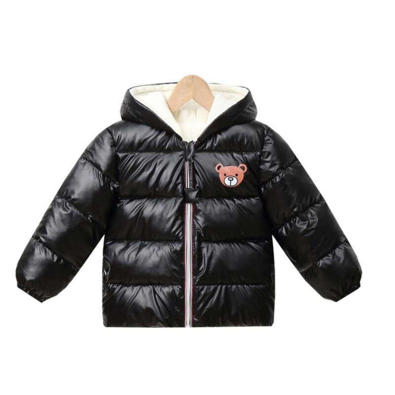 New Boys Girls Clothes Kids Casual Hooded Down Coats Autumn Winter Warm Fashion Outwear Children Solid Jacket For 2-6 Years 3