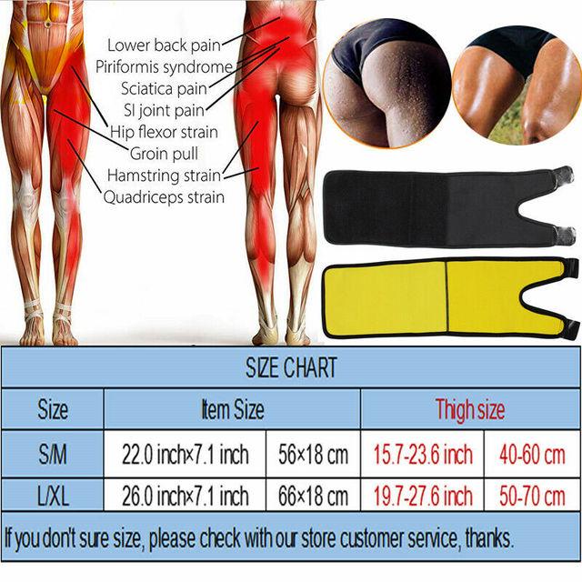 Leg Slimming Belt Shaper Sauna Sweat Thigh Trimmers Slender Heater Dhaper Legs Belt Wrap 5