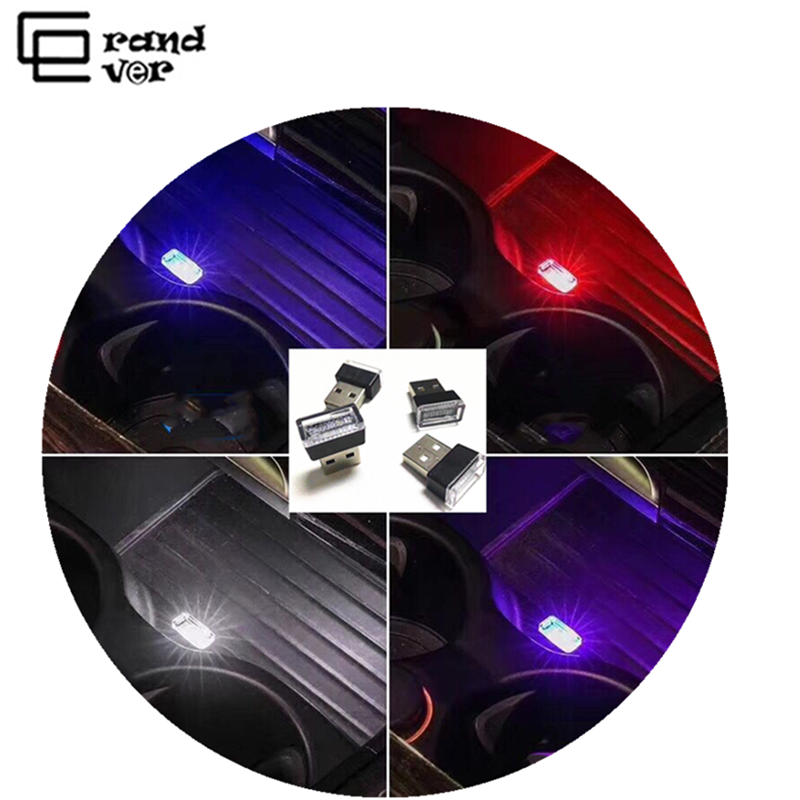 Mini LED Car light USB Atmosphere Light Auto Interior lamp In-vehicle foot light for mobile phone power Bank PC Car Accessories