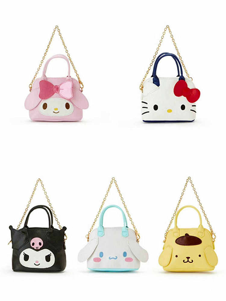 Cartoon Hallo Kitty My Melody Cinnamoroll Pompompurin Brieftasche Tasche Geldbörse Karte Taschen für Frauen Leder Brieftaschen Geldbörse für Mädchen