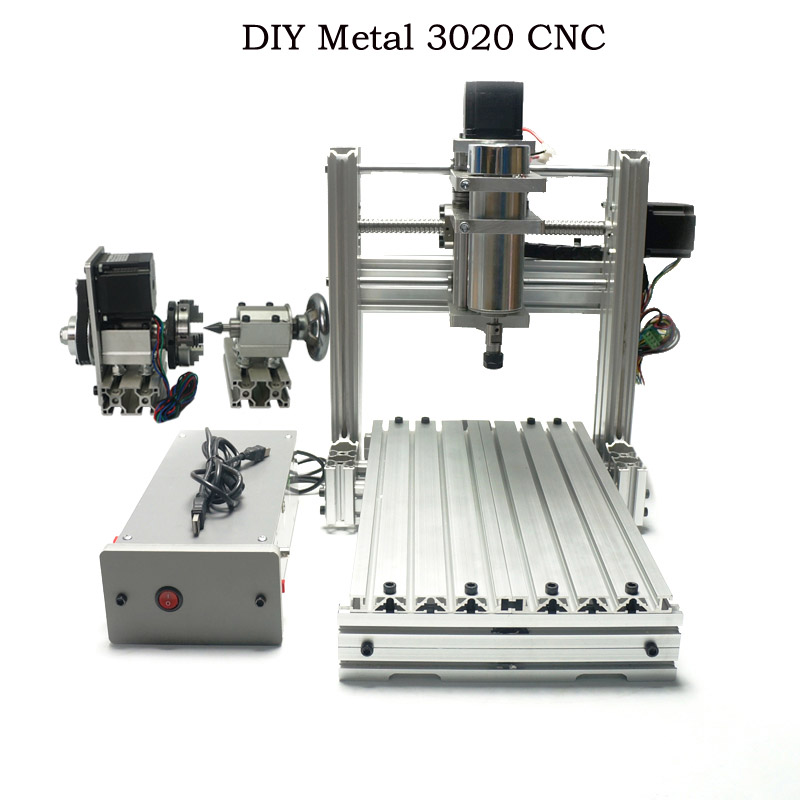 CNC 3020 Metal Router Wood Carving Cnc Machine 3 Axis 4 Axis DIY For Carpentry