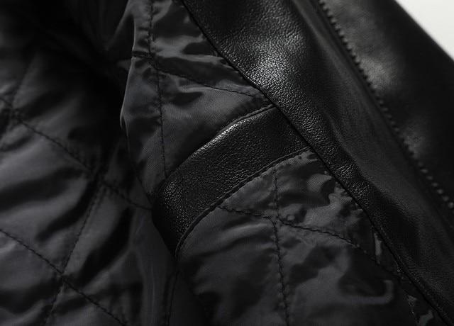 2021 Skull Rhinestones PU Jackets Men Black High Street Stand-Neck Zipper Rib Sleeve Streetwear Motorcycle Faux Leather Coats 6