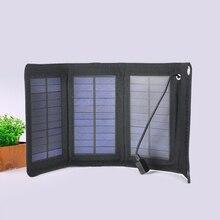 5 Вт Складная солнечная батарея USB пакет для мобильного телефона черный зарядное устройство портативный банк