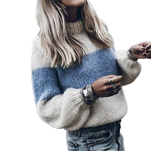 Women 2019 Autumn NEW All-match Female Casual O-Neck Striped Pullover Sweater Long Sleeve Autumn Knitting Sexy Sweater Plus Size xiaying smile women maternity dress female fashion all match boat neck sexy loose embroidery striped short dresss long sleeve