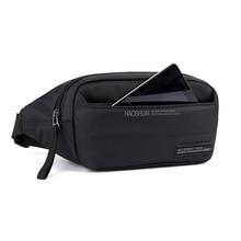 New Fanny Pack Black Waterproof Money Belt Bag Men Purse Teenager s Travel Wallet Belt Male Waist Bags Cigarette Case for Phone