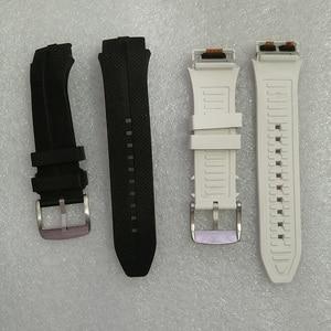 Image 2 - Correa de reloj con garantía de 100% correas de goma de plástico con antena para LG Urbane 2 LTE w200 reloj inteligente tornillos gratis + herramientas