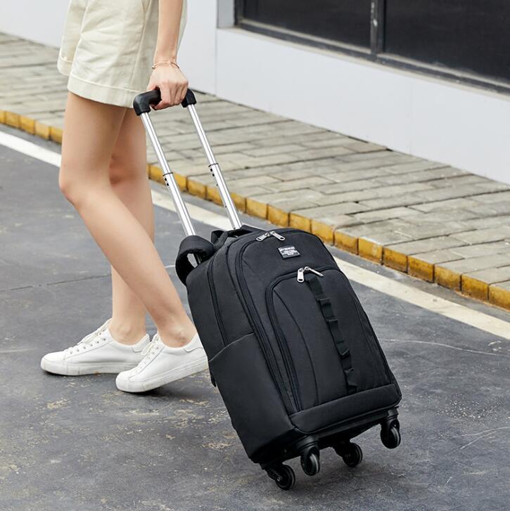 Women trolley Bag On Wheels Men Rolling luggage Bag with Wheels Travel trolley bag luggage backpack Women carry on hand luggage