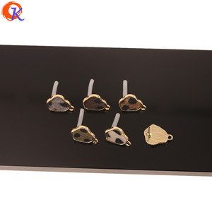 Image 4 - Cordial Design 100Pcs 13*17MM Jewelry Accessories/Hand Made/Irregular Shape/Leopard Print Effect/DIY Making/Earrings Stud