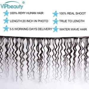 Image 3 - Indische Wasser Welle Bundles Mit Spitze Schließung Menschliches Haar Vip Schönheit Haar Weben 3 Bundles Mit Verschluss Remy Haar Verlängerung