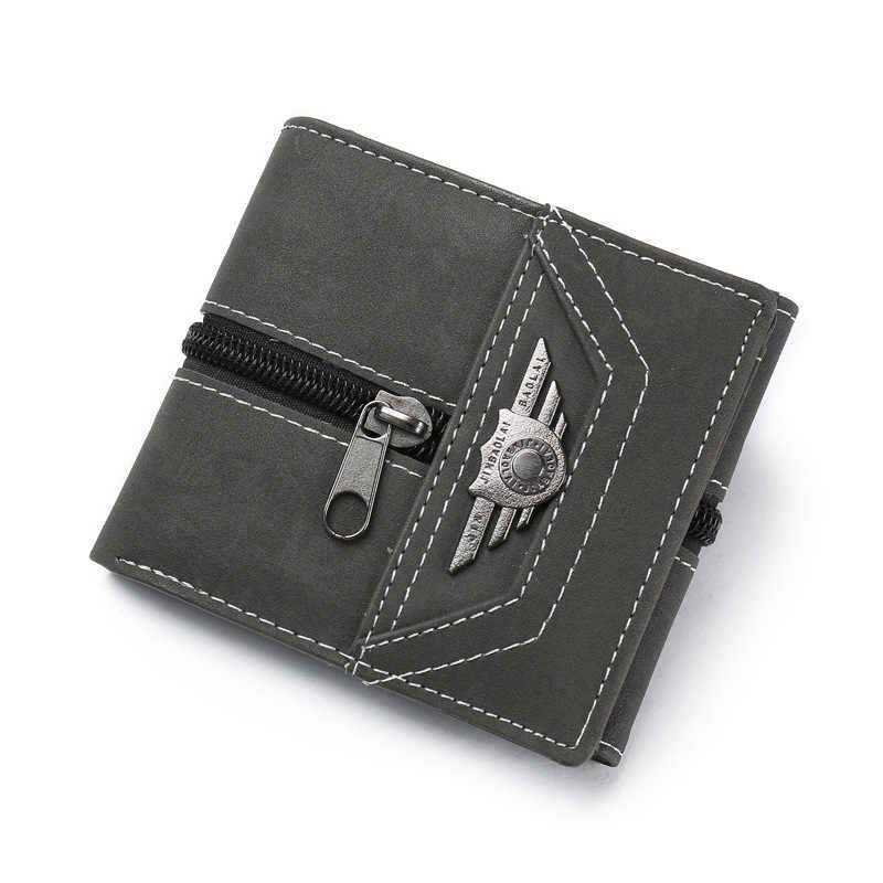 Мужской кошелек в ретро стиле индивидуальный клатч на молнии короткий