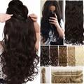 S-noilite длинные волнистые зажимы в одном кусочке синтетические волосы удлинение на половину головы настоящие натуральные зажимы для волос в ...