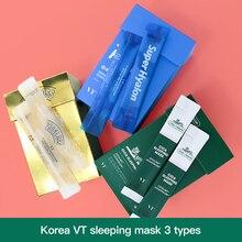 korean skin care face mask vt cosmetics moisturizing water SLEEPING skin face mask set 10pcs, Korean mascara facial beauty mask