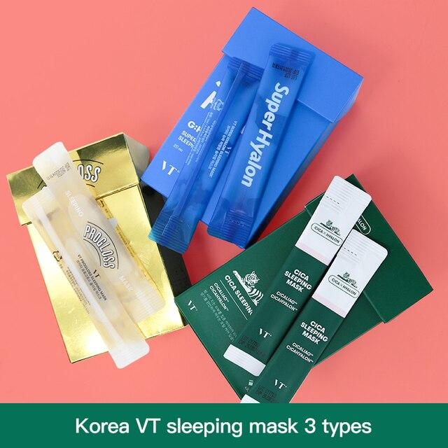 Корейская маска для ухода за кожей лица vt Косметика увлажняющая Вода Спящая кожа маска для лица набор 10 шт, Корейская тушь для ресниц маска для лица
