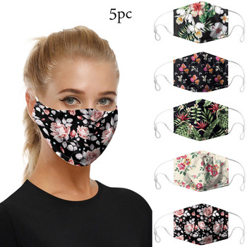 5pc Face Mask Scarf Mascarilla Mascarar Cotton Face Mask Pm2.5 Activated Carbon Mask Washable And Reusable Lot Maska Mascarillas