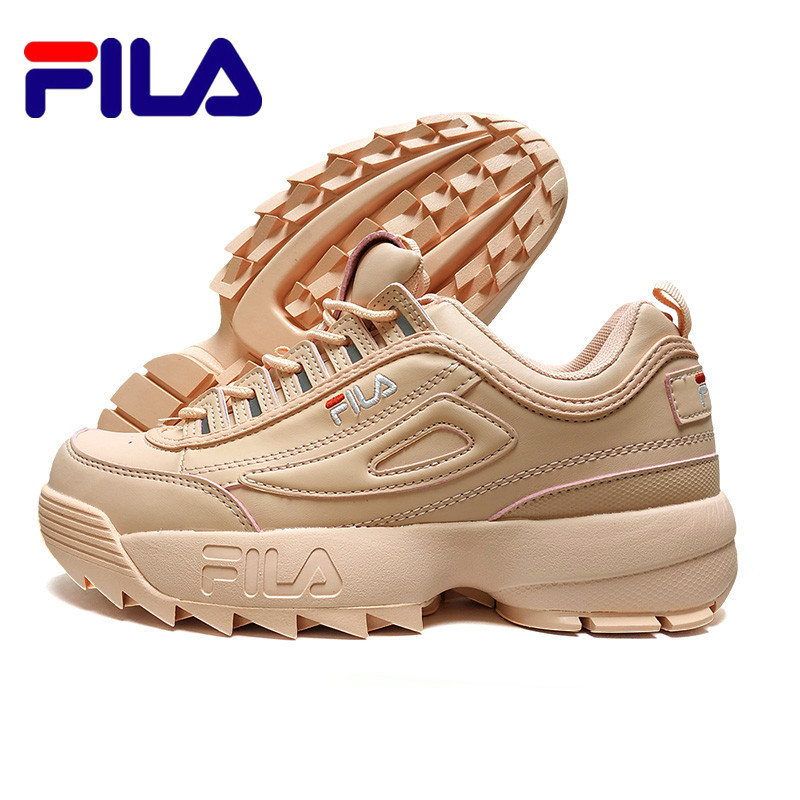 FILA Disruptor II 2 Pink Women's Running Shoes Sneaker Thicker Legs Repair Leggings Jogging Light Breathable Sports Shoes 36-44