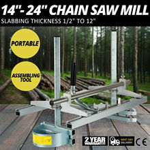 """Chainsaw Mill Planking Milling 14"""" to 24"""" Guide Bar Wood Lumber Cutting Portable Sawmill"""