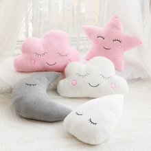 New Stuffed Cloud Moon Star Raindrop Plush Pillow Soft Cushion Cloud Stuffed Plush Toys For Children Baby Kids Pillow Girl Gift
