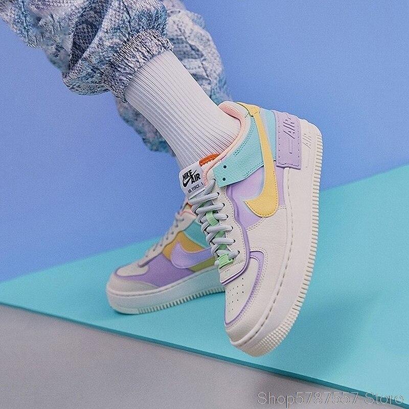 Nike Air Force 1 Shadow zapatos de Skateboarding para mujeres, zapatillas deportivas al aire libre, CI0919-003 Ins recomendados 100% recién llegados originales - 4