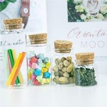 Многоразовые Стекло бутылки с украшения cork посылка для свадебных