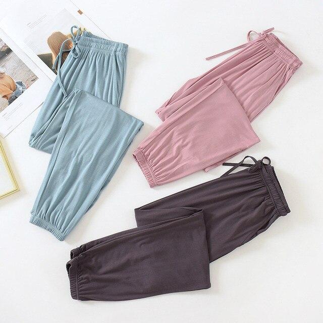Autumn Women's Pajama Pants Modal Lounge Wear Home Pants for Women Autumn Home Pants Fall Homewear