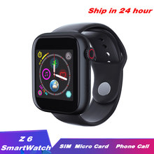 Z6 Smart Watch 2G SIM TF Card Fitness Bluetooth IOS Android Watch Phone Watches Camera Music player Smartwatch PK DZ09 Q18 Y1 A1(China)