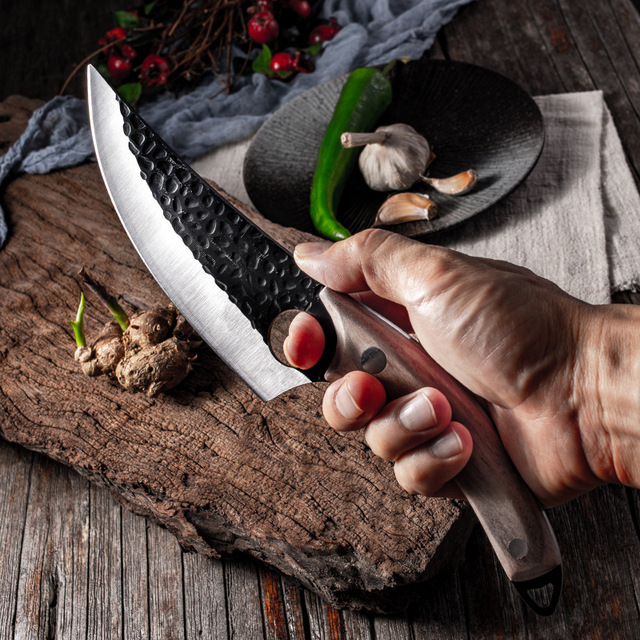 """5.5"""" Meat Cleaver Hunting Knife Handmade Forged Boning Knife Serbian Chef Knife Stainless Steel Kitchen Knife Butcher Fish Knife"""