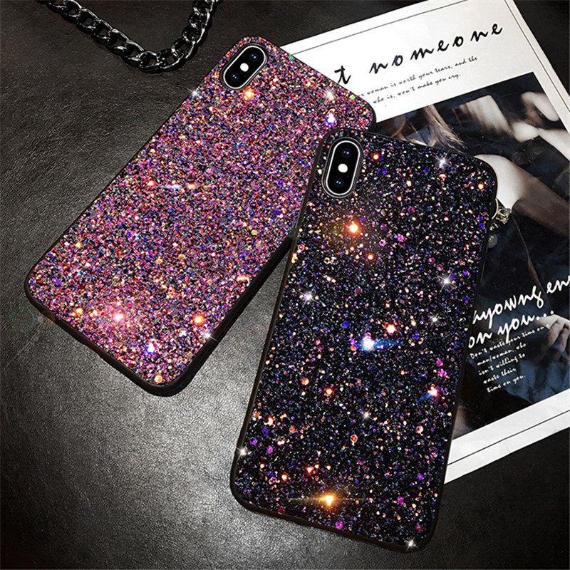 Bling Glitter Sequins Phone Case For Huawei Honor 8X 20 pro P20 P30 Pro Lite p smart 2019 Case Nova 3i 5 4 E y7 2019 y9 Y6 7C(China)