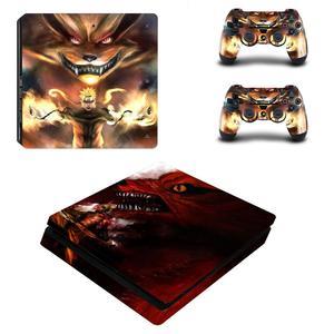 Image 4 - Аниме «Наруто» для боруто; Полное покрытие лицевые панели PS4 тонкая кожа Стикеры Виниловая наклейка для Playstation 4 консоли и контроллер PS4 тонкий Стикеры
