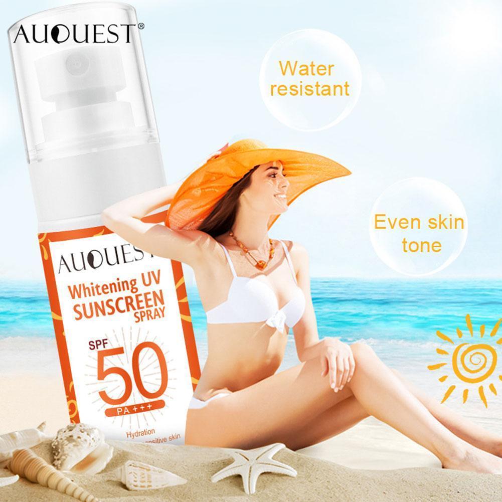 50ml UV Sunscreen Spray SPF50 Oil-free Spray Waterproof Sunscreen For Beach And Sports Immediately Whiten Body Sunscreen Spray