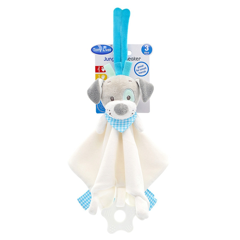 NEW Infant Appease Towel Grasping Rattles Playmate Calm Toys Baby Soft Plush Animal Doll Toy 1PC