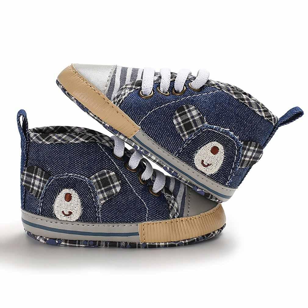 Zapatos de lona para bebés y niñas recién nacidos, zapatos de lona antideslizantes para bebés de 0-18M