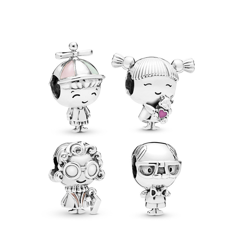 Family charms grandparents & boy and girl bead jewelry making for women gift fit pandora bracelet necklace diy pendant bead