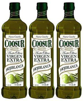 Coosur Extra Natives Olivenöl - Virgen Extra Hojiblanca 1L. - [Pack of 3]