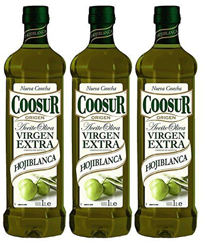 Coosur Huile D'Olive Extra Vierge Hojiblanca 1L - [Pack Of 3]