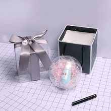 transparent ball gift box Bow Ribbon lipstick perfume box candy plastic packaging Коробка для подарков картон conos papel boda(China)