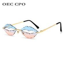 Oec cpo Модные солнцезащитные очки без оправы Женские уникальные