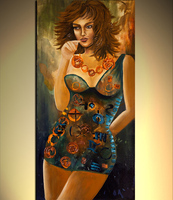Large Canvas Wall Art Palette Knife Heavy Texture Oil Painting Sexy Woman Handmade Beautiful Artwork Paintings For Sale