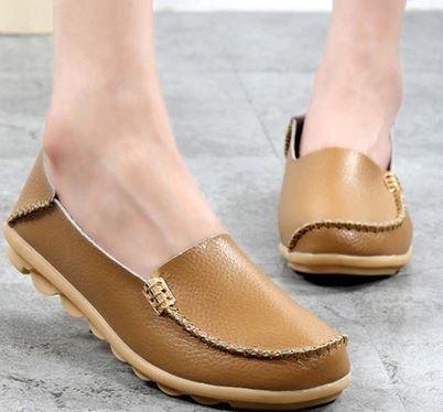 YEELOCA 2020 Genuine Leather Women Loafers Slip On Woman Flats Shoe Low Heel  TG0649