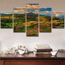 5 Planes Hillside Plot Room Decor Canvas Art Painting Picture Photo Living Office for Women and Men