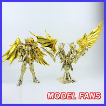 MODEL FANS IN STOCK GreatToys EX soul of Gold sog gemini saga Saint Seiya metal armor with object Myth Cloth Action Figure toy