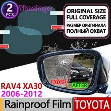 For Toyota Rav4 XA30 2006 - 2012 RAV 4 30 Full Cover Anti Fog Film Rearview Mirror Rainproof Anti-Fog Films Clean Accessories стоимость