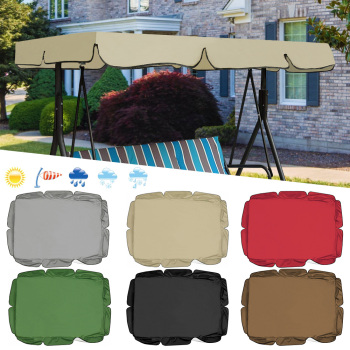 Waterproof Patio Swing Canopy Cover Replacement For 3-Seater Garden Swing 3 Chair And Sofa Covers