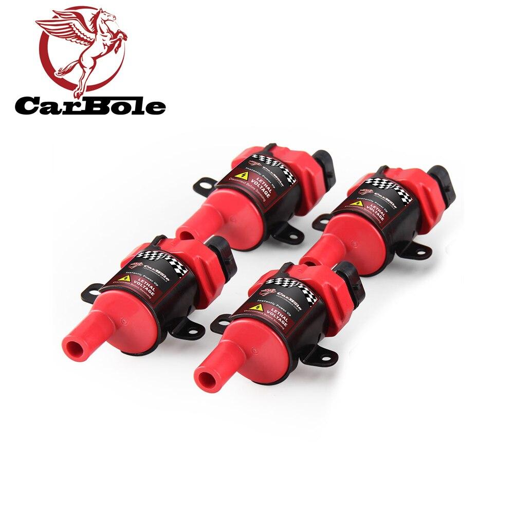 Carbole novo 4 pçs bobinas de ignição plug pacote para chevrolet gmc buick isuzu hummer4.3l 5.3l 6.0l d585 bobina do carro com ignição interna
