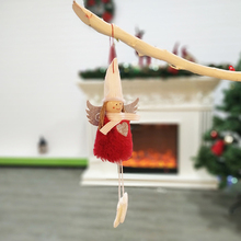 4pcs Christmas Tree Decor Angel Doll Pendant Decoration for Home Xmas Party Kids Gift Bedroom