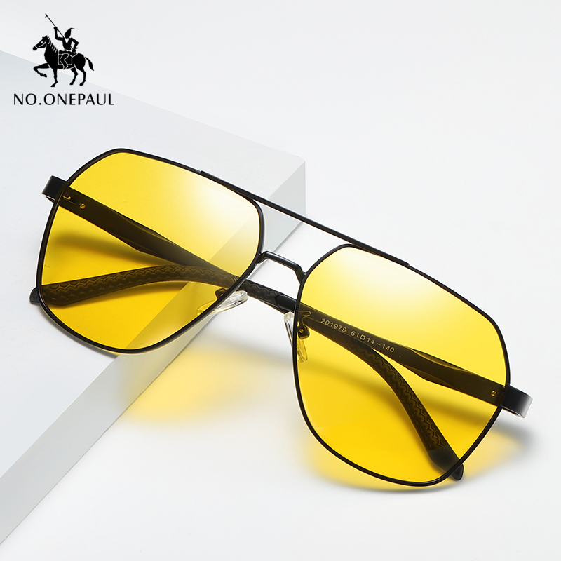 NO.ONEPAUL Brand Accessories Sun Glasses For Men/Women Unisex Retro Aluminum Square Polarized Sunglasses Lens Vintage Eyewear