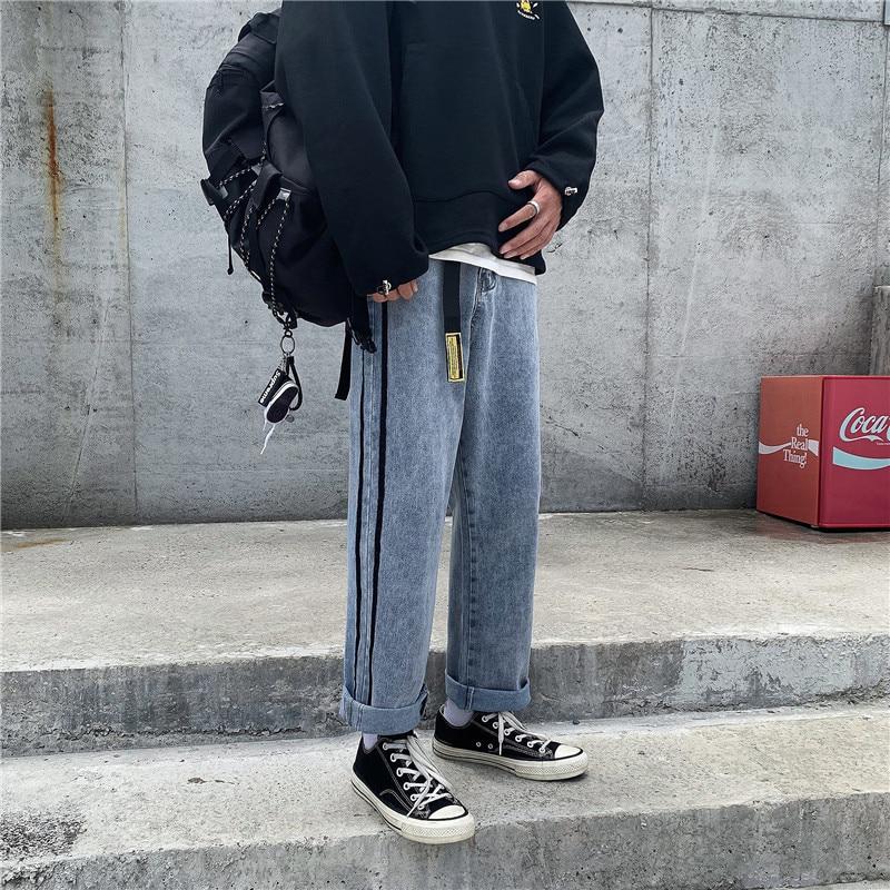 MEN'S Jeans 2019 Popular Brand Men'S Wear Autumn Pants Korean-style Versatile Straight-leg Pants Trend Capri Pants Students